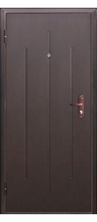 СЕЙФ-ДВЕРЬ «СТРОЙГОСТ» 5-1 Металл/Металл (со штампом) снаружи