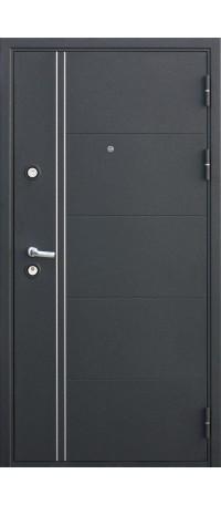 СЕЙФ-ДВЕРЬ MODENA DOOR «FERRUM» Черный шелк/Венге внутри