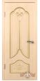 Дверь Владимирская фабрика дверей 'КАРИНА' Беленый дуб 31ДГ5 пазы золото