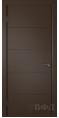 Дверь Владимирская фабрика дверей 'Тривиа' Шоколад эмаль 50ДГО5