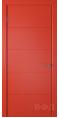Дверь Владимирская фабрика дверей 'Тривиа' Красная эмаль 50ДГО7