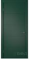 Дверь Владимирская фабрика дверей 'Тривиа' Зеленая эмаль 50ДГО10