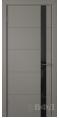 Дверь Владимирская фабрика дверей 'Тривиа' Темно серая эмаль 50ДОО3 Лакобель черное