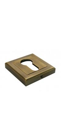 Накладка на ключевой цилиндр квадратный MORELLI MH-KH-S COF Цвет - Кофе снаружи