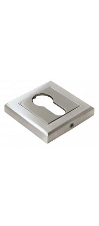 Накладка на ключевой цилиндр квадратный MORELLI MH-KH-S SC/CPЦвет - Матовый хром/полир. хром снаружи