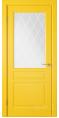 Дверь Владимирская фабрика дверей 'Стокгольм' Желтая эмаль 56ДОО8 сатинат с печатью