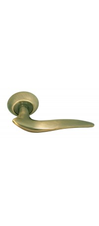 Дверные ручки RUCETTI RAP 4 AB Цвет - Античная бронза снаружи