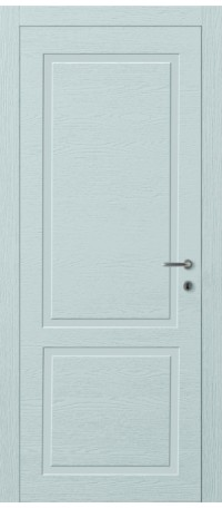 ДВЕРИ MODENA DOOR 'Корона Wood Line 2' Топаз эмаль/Шпон натур (ДГ) снаружи
