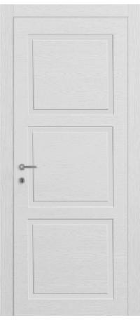 ДВЕРИ MODENA DOOR 'Корона Wood Line 3' Белая эмаль/Шпон натур (ДГ) снаружи