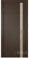 Дверь Владимирская фабрика дверей 'Тривиа' Шоколад эмаль 50ДОО5 Лакобель бежевая