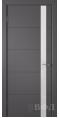 Дверь Владимирская фабрика дверей 'Тривиа' Графит эмаль 50ДОО6 Лакобель белое