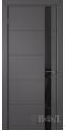 Дверь Владимирская фабрика дверей 'Тривиа' Графит эмаль 50ДОО6 Лакобель черное