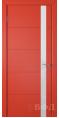 Дверь Владимирская фабрика дверей 'Тривиа' Красная эмаль 50ДОО7 Лакобель белое