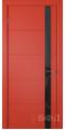Дверь Владимирская фабрика дверей 'Тривиа' Красная эмаль 50ДОО7 Лакобель черное