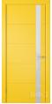 Дверь Владимирская фабрика дверей 'Тривиа' Желтая эмаль 50ДОО8 Лакобель белое