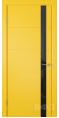 Дверь Владимирская фабрика дверей 'Тривиа' Желтая эмаль 50ДОО8 Лакобель черное