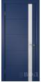 Дверь Владимирская фабрика дверей 'Тривиа' Синяя эмаль 50ДОО9 Лакобель белое