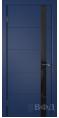 Дверь Владимирская фабрика дверей 'Тривиа' Синяя эмаль 50ДОО9 Лакобель черное