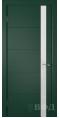 Дверь Владимирская фабрика дверей 'Тривиа' Зеленая эмаль 50ДОО10 Лакобель белое