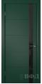Дверь Владимирская фабрика дверей 'Тривиа' Зеленая эмаль 50ДОО10 Лакобель черное