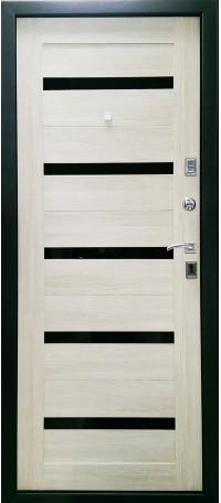 Металлическая дверь СТАЙЛ (Беленый дуб) снаружи