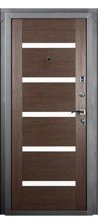 Металлическая дверь СТАЙЛ (Венге) снаружи