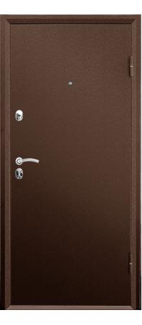 Металлическая дверь ПРАКТИК МЕТАЛЛ-МЕТАЛЛ снаружи