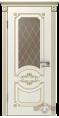 Дверь Владимирская фабрика дверей 'МИЛАНА' 42ДО1, эмаль слон.кость/пат.капучино, стекло бронза