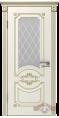 Дверь Владимирская фабрика дверей 'МИЛАНА' 42ДО1, эмаль слон.кость/пат.капучино, стекло белое