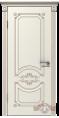 Дверь Владимирская фабрика дверей 'МИЛАНА' 42ДГ01, эмаль слоновая кость/патина капучино