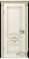 Дверь Владимирская фабрика дверей 'МИЛАНА' 42ДГ01, эмаль слоновая кость/патина золото
