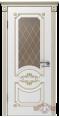 Дверь Владимирская фабрика дверей 'МИЛАНА' 42ДО0, белая эмаль/пат.золото, стекло бронза