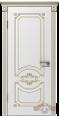 Дверь Владимирская фабрика дверей 'МИЛАНА' 42ДГ0, белая эмаль/патина золото
