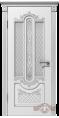 Дверь Владимирская фабрика дверей 'АЛЕКСАНДРИЯ'  41ДО0, белая эмаль/патина серебро, стекло белое