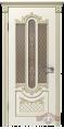 Дверь Владимирская фабрика дверей 'АЛЕКСАНДРИЯ'  41ДО0, белая эмаль/патина золото, стекло бронза