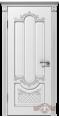 Дверь Владимирская фабрика дверей 'АЛЕКСАНДРИЯ'  41ДГ0, белая эмаль/патина серебро