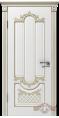Дверь Владимирская фабрика дверей 'АЛЕКСАНДРИЯ' 41ДГ0, белая эмаль/патина золото