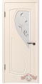Дверь Владимирская фабрика дверей 'ГРАЦИЯ', эмаль слоновая кость, стекло белое матированное 10ДО01 R