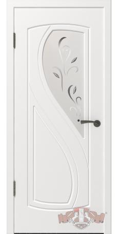 Дверь Владимирская фабрика дверей 'ГРАЦИЯ', Белая эмаль,стекло белое матированное 10ДО01 R/L снаружи
