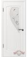 Дверь Владимирская фабрика дверей 'ГРАЦИЯ', Белая эмаль,стекло белое матированное 10ДО01 R/L