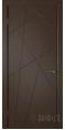 Дверь Владимирская фабрика дверей 'Флитта' Шоколад эмаль 26ДГО5