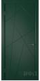 Дверь Владимирская фабрика дверей 'Флитта' Зеленая эмаль 26ДГО10