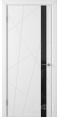 Дверь Владимирская фабрика дверей 'Флитта' Белая эмаль 26ДО0 Лакобель черное