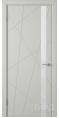 Дверь Владимирская фабрика дверей 'Флитта' Светло серая эмаль 26ДОО2 Лакобель белое