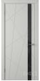 Дверь Владимирская фабрика дверей 'Флитта' Светло серая эмаль 26ДОО2 Лакобель черное