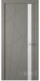Дверь Владимирская фабрика дверей 'Флитта' Темно серая эмаль 26ДОО3 Лакобель белое