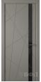 Дверь Владимирская фабрика дверей 'Флитта' Темно серая эмаль 26ДОО3 Лакобель черное