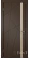 Дверь Владимирская фабрика дверей 'Флитта' Шоколад эмаль 26ДОО5 Лакобель бежевая