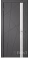 Дверь Владимирская фабрика дверей 'Флитта' Графит эмаль 26ДОО6 Лакобель белое