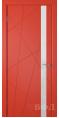 Дверь Владимирская фабрика дверей 'Флитта' Красная эмаль 26ДОО7 Лакобель белое
